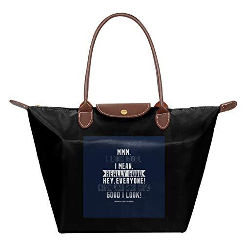 Anchorman Opening Lines Waterproof Leather Folded Messenger Nylon Bag Travel Tote Hopping Folding School Handbags