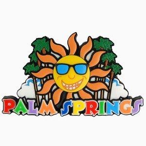 Palm Springs Sun Palms Laser Magnet 46951
