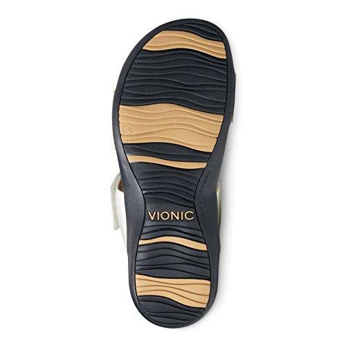 Technology FMT Adjustable Support White Camilla Vionic Slide Sandals Women's Py470