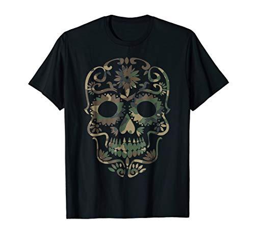 Military Camoflage Dia de Los Muertos Sugar Skull -