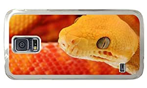 Hipster Samsung Galaxy S5 Case girly covers Orange Snake PC Transparent for Samsung S5