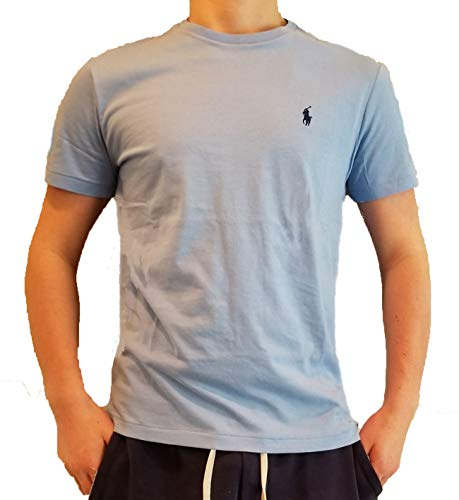 Ralph Lauren Men's Pony Logo T-Shirt (Small, Sky Blue) (Ralph Lauren De)