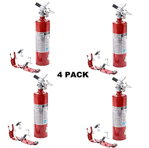 (4 Pack) 2.5 lb Fire Extinguisher ABC Dry Chemical Rechargeable w/Bracket New - C/w Bracket