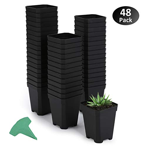 GROWNEER 48-Pack Nursery Pots 2.75