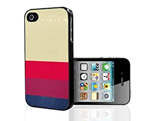 Pink and Blue Stripes on Light Wood Background Hard Snap on Phone Case (iPhone 4/4s)