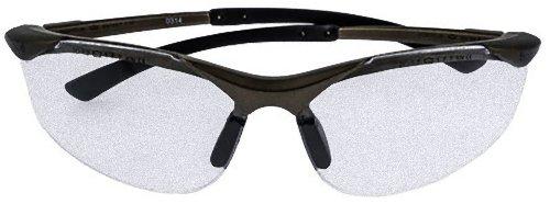 Ligeras gafas transparentes de seguridad con puente antideslizante.