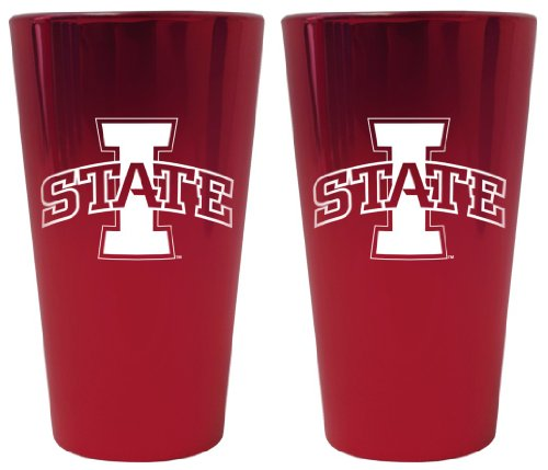 (Iowa State Cyclones Lusterware Pint Glass - Set of 2)