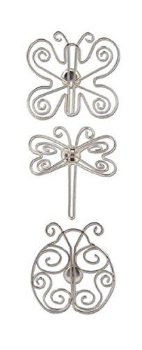 Karen Foster Design Accentables メタルマグネット、虫、12 x 12インチ B003AVKSHG
