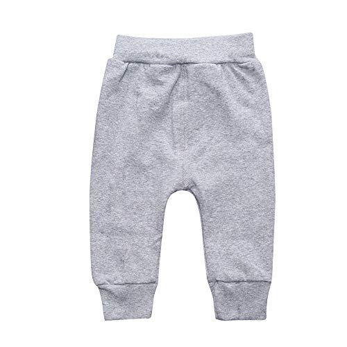 - Unisex Newborn Baby Cotton Harem Pants Infant Girls Boys Solid Casual Long Trousers Bottoms Cuff Pants Gray