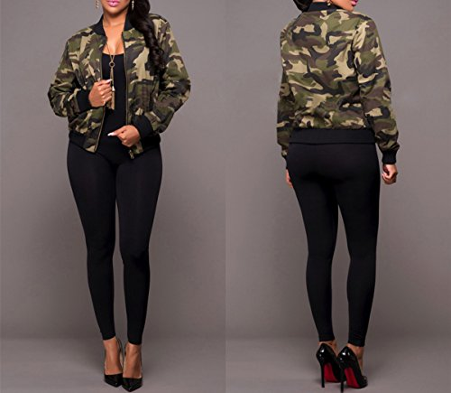 Taiduosheng-Women-Military-outwear-Casual-Camouflage-Lightweight-Thin-Short-Length-zipper-Jacket-Coat