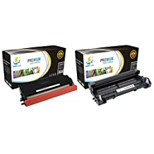 Catch Supplies TN580 High Yield & DR520 Premium Combo Replacement Toner Cartridge and Drum Unit Compatible with Brother HL-5240 5250DN, MFC-8460N 8660DN, DCP-8060 8065DN Printers |1 TN-580X, 1 DR-520|