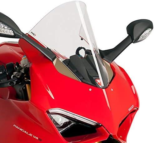 Racingscheibe f/ür Ducati Panigale V4// S 18-19 klar Puig 9690w