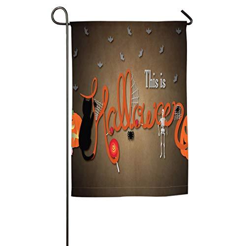 HenSLK This is Halloween Vertical House Flag,Garden Flag,Home Flag,Indoor Flag Yard Indoor & Outdoor Decoration 12x18inch & 18x27inch -