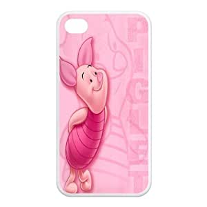 Mystic Zone Winnie the Pooh Piglet iPhone 4 Cases for iPhone 4/4S Cover Cartoon Fits Case KEK1342