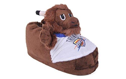 Comfortabele Voeten Gelukkig Voeten Heren En Womens Officieel Gelicenseerde Nbamascot Pantoffels Oklahoma City Donder Mascotte Pantoffel