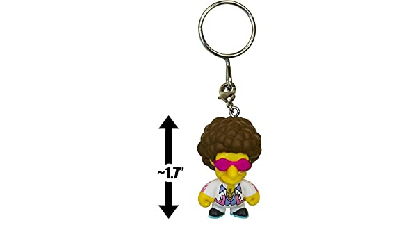"Kidrobot Keychains Series 1 The Simpsons Disco Stu 1.5/"" 3D Vinyl Keychain Box"