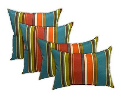 Resort Spa Home Set Of 4 Indooroutdoor Pillows Square Throw
