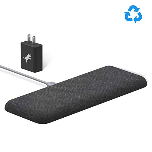 Nimble Eco-Friendly Wireless Dual Pad, Fast Wireless Charger Compatible with Apple iPhone 8/X/XS/XR, Samsung S9/S8/S7, Qi Enabled Devices (Organic Hemp, Sustainable Bioplastics)