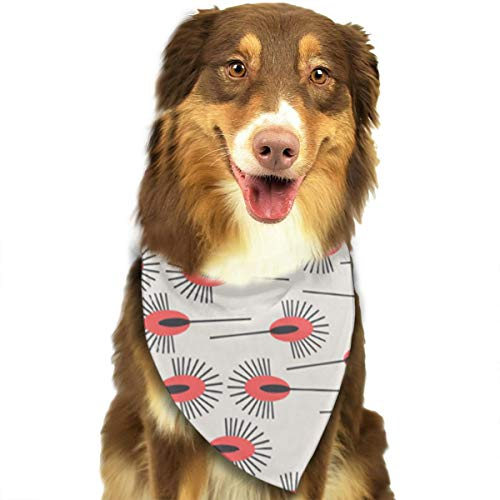 ANYWN Pet Dog Bandanas Peacock Poppy Triangle Bibs Scarfs Accessories for Puppies Cats Pets Animals Large -