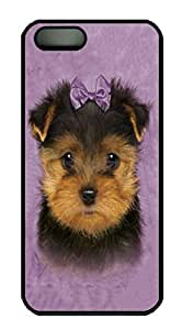 Kids Yorkshire Terrier Puppy Custom PC Hard For Iphone 5C Phone Case Cover Black