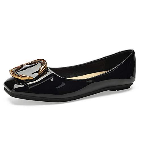 Travail Ballerines Mocassins Bureau Plates De Demoiselle Regbking Chaussures Escarpins Black D'honneur nwOk8P0