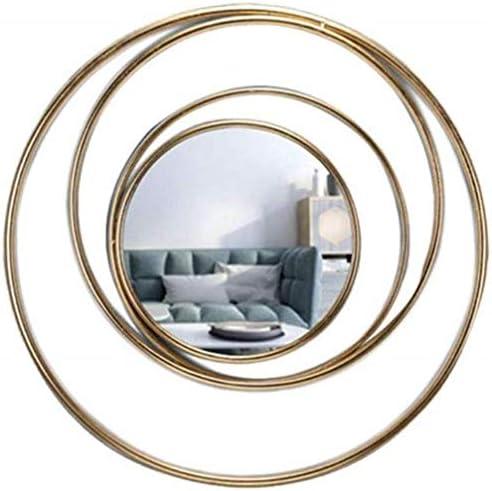 GCX- メイクアップミラーリビング鉄サングラス装飾ペンダント壁画レストランクリエイティブの背景の壁の鏡 ファッション (Color : Gold)