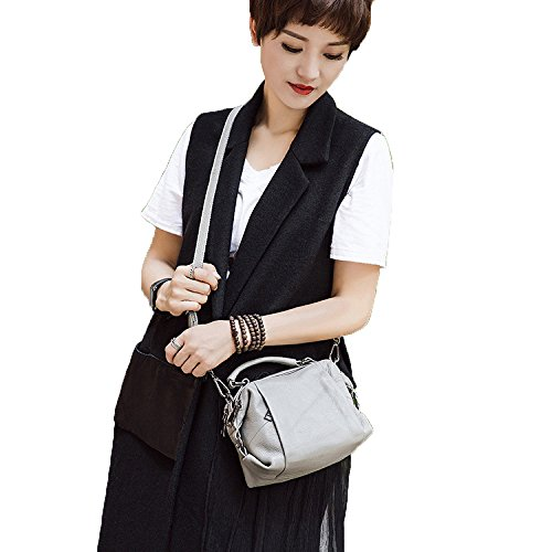 Shoulder Layer Purple Ladies Leather Hand First Bag Leather Messenger Bag Bag Bag New Fashion Boston vpFXq