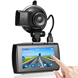 Z-Edge T3 Dash Cam, 3'' Touch Screen Full HD 1080P Dash Camera for Cars with GPS, Sony Sensor, Super HDR Night Vision, 4 Preset Optimized Setting, G-Sensor, Parking Monitor, Loop Recording, 128GB Max