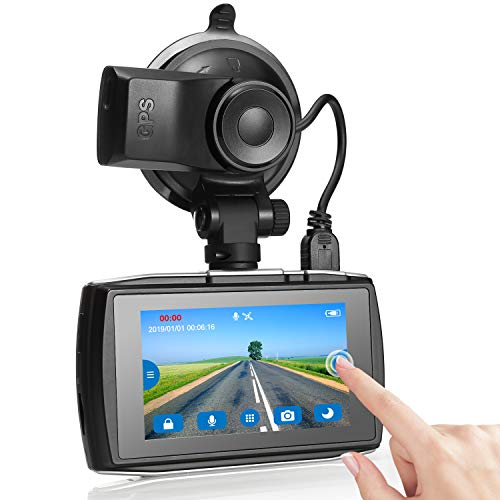 Dash Cam, Z-Edge T3 3″ Touch Screen Full HD 1080P Dash Camera for Cars with GPS, Sony Sensor, Super HDR Night Vision, 4 Preset Optimized Setting, G-Sensor, Parking Monitor, Loop Recording, 128GB Max