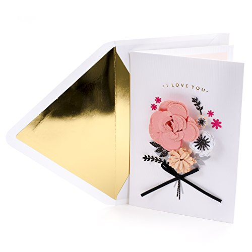 Hallmark Signature Valentine's Day Greeting Card for Wife (Paper Flowers with (Seasonal Cut Flowers)