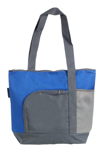 Fashionable Tote Bag with Zipper Closure Long Handles Large Capacity, Royal Blue by BAGS FOR LESSTM