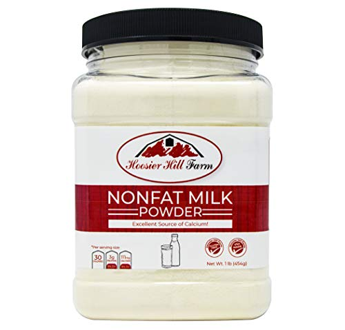 Nonfat Dry Milk Powder - Hoosier Hill Farm Instant Nonfat Dairy Milk Powder, 1 lb