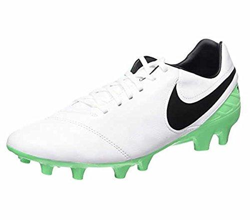 Nike Herren Tiempo Mystic V FG Fußballschuhe WHITE/BLACK-ELECTRO GREEN