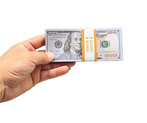 EWIBUSA 1 Total $20,000 Dollar Prop Money Bills $100 X 200 PCS Copy Money  Double-Sided Print Pretend Play Money Great Money Games with Children Props