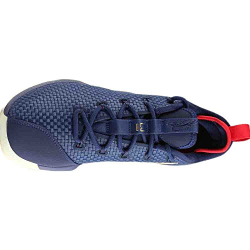 Nike Lebron Xiv Low Mens Scarpe Da Basket Mezzanotte / Oro Metallizzato