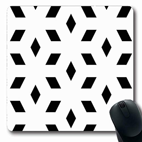 Mosaic Flooring Canvas - Ahawoso Mousepads Folkloric Arab Mosaic Rhombuses Grid Ancient Angle Arabesque Arabic Asian Back Design Polygons Oblong Shape 7.9 x 9.5 Inches Non-Slip Gaming Mouse Pad Rubber Oblong Mat