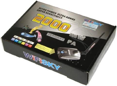 ANTENA ADAPTADOR USB WIFI WIFISKY 2000mW REALTEK ...