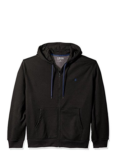 IZOD Men's Big and Tall Advantage Performance Solid Fleece Hoodie, Black Heather, X-Large Tall
