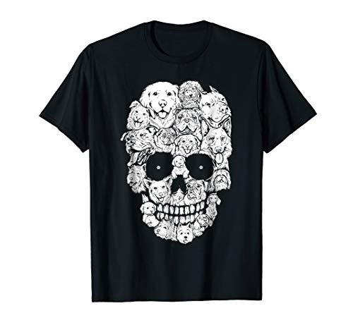 Skull Dogs Funny Halloween Costumes Tshirt Gifts -