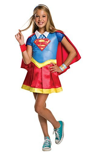 Arlene's Costume (Supergirl Deluxe - DC Superhero Girls - Childrens Fancy Dress Costume - Large - 147cm by DC Superhero Girls)