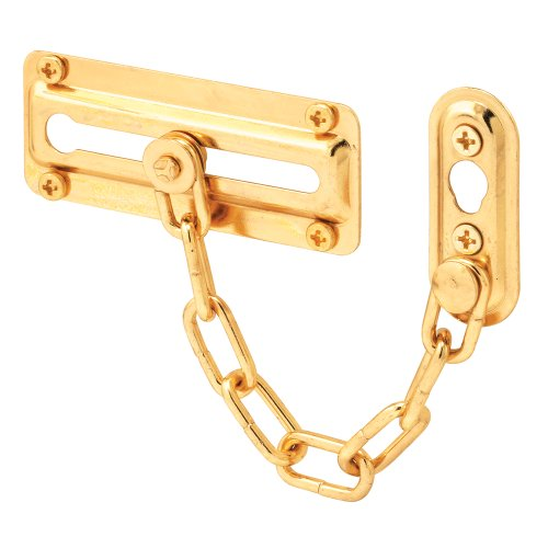 Prime-Line Products U 9905 Chain Door Guard, Brass Finished Steel