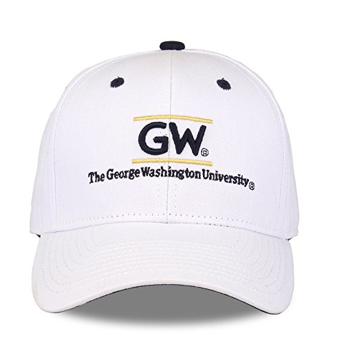NCAA George Washington Colonials Unisex NCAA The Game bar Design Hat GWU, White, Adjustable