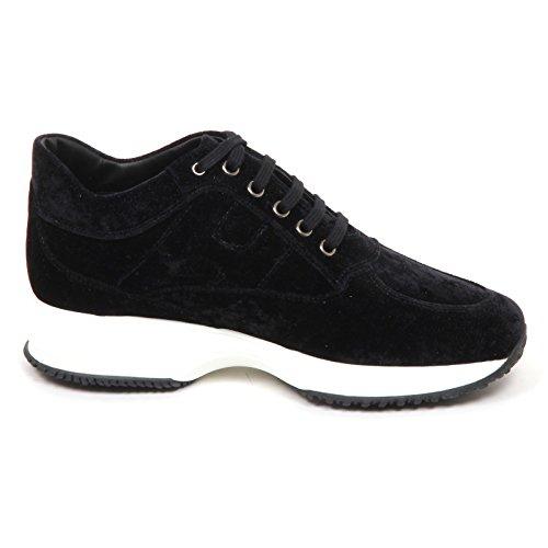 Hogan Scarpe Shoe Velvet Nero Woman E4454 Velluto Donna Nero Sneaker Interactive rqrX78