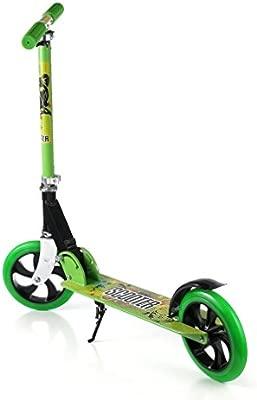 Scooter Para Niños, OUTAD Patinete Plegable Ruedas grandes 200mm con altura ajustable y carga máxima 100 kg, Verde