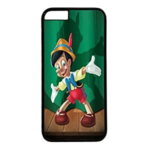 iPhone 6 Plus Case,Fashion Durable Black Side design for iPhone 6 Plus(5.5 inch),PC material Phone Cover,Designed Specially Pattern with Pinocchio.