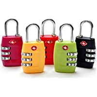 GANA TSA Approved 3 Combination Travel Suitcase Luggage Combination Padlock Number Code Lock Pin for Luggage Suitcases…
