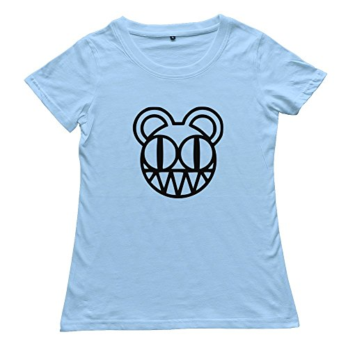 Goldfish Women's Hot Topic Normal Fit Radiohead T-Shirt SkyBlue US Size L