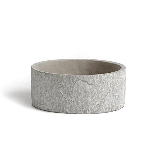 Concrete Round Planter - ornerx Concrete Round Succulent Planter Pot 6