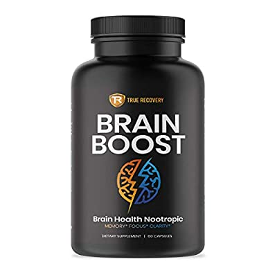 Brain Supplement Nootropic Boost - Energy and Focus Blend for Enhanced Concentration, Memory & Clarity - Thermogenic Blend for Improved Metabolism - Brain Booster Pills for Men & Women (60 Capsules)