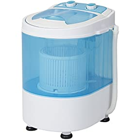Best Choice Products Portable Mini Washing Machine Spin Cycle W/ Basket, Drain Pipe, 6.6lbs. Capacity- Blue/White